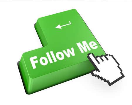 follow me:  keyboard with green Follow Me button