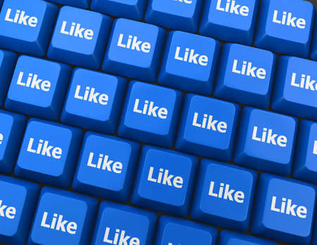 social media  symbol 3d Stock Photo - 26100834