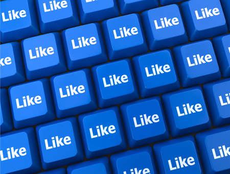 social media  symbol 3d Stock Photo - 26100842