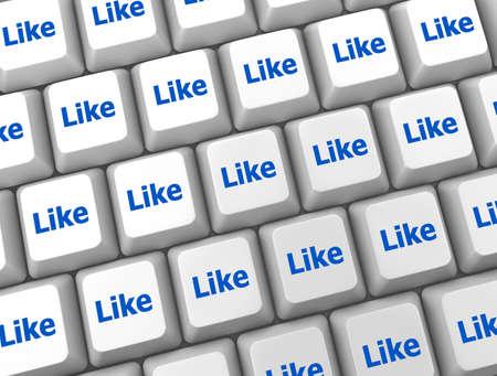 social media  symbol 3d Stock Photo - 26100844