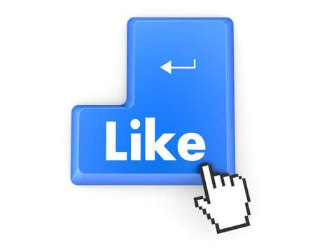 social media  symbol 3d Stock Photo - 26100921