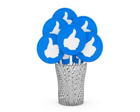 like thumb up render Stock Photo - 26100929