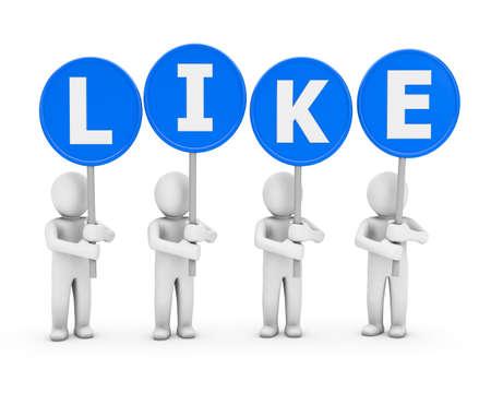 socia media symbol Stock Photo - 26100935