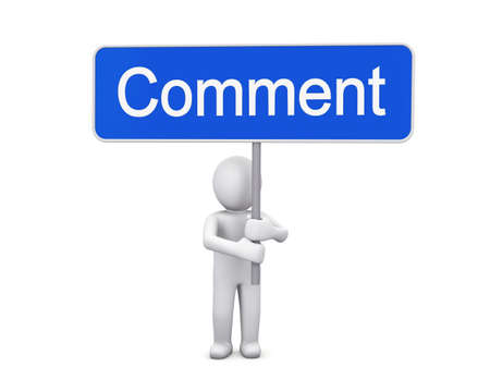 comment and man Stock Photo - 26100946