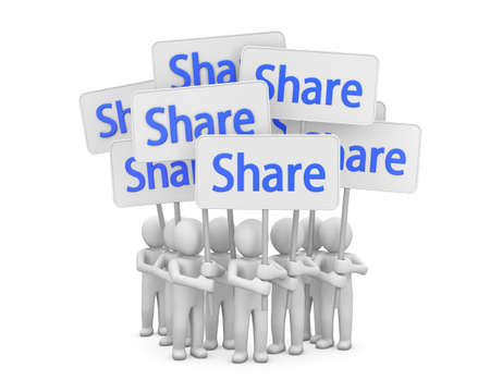 share symbol Stock Photo - 26100950