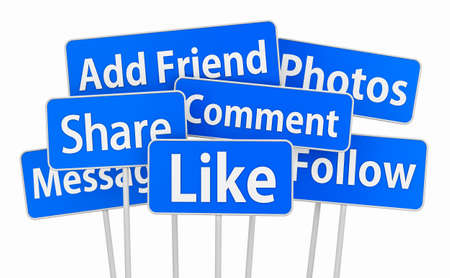 like and social media