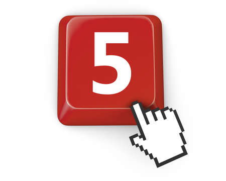 number 5: number 5  icon Stock Photo