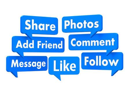social media-symbool Stockfoto