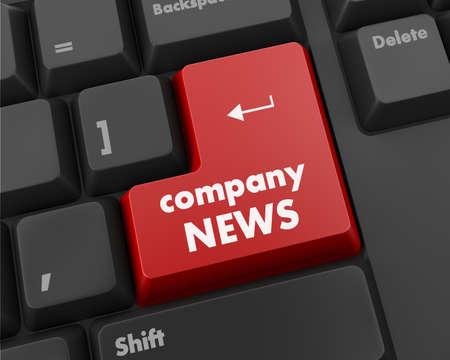 computer keyboard with word Company News photo
