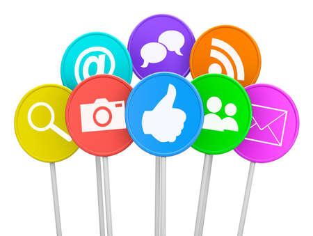 photo icons: social media icon