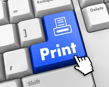 BluePrint Button on Computer Keyboard. Internet Concept. photo