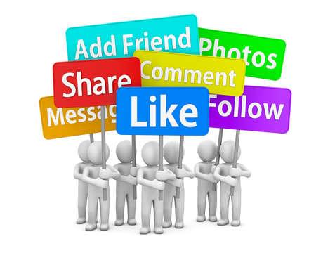 social media symbol Archivio Fotografico