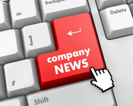 computer keyboard with word Company News photo