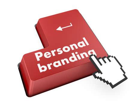 computer keyboard key - personal branding on button, raster photo
