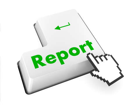 Report Concept. A key or button on a computer keyboard  photo