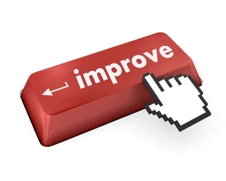 improve or improvement business concept with key on keyboard photo