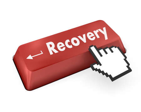 Business concept: Recovery key on the computer keyboard photo