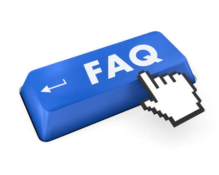 FAQ key on the computer keyboard photo