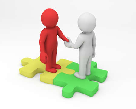 business man handshaking 3d