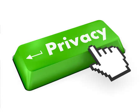 message on keyboard enter key, for privacy policy concepts Stock Photo - 29435361