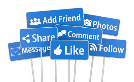 admiration: social media symbol Stock Photo