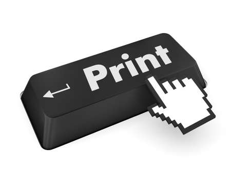 Print Button on Computer Keyboard. Internet Concept. photo