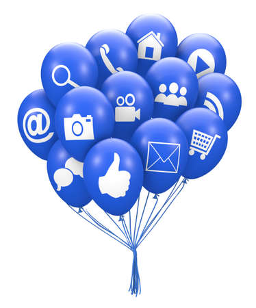 social media balloon 3d render photo