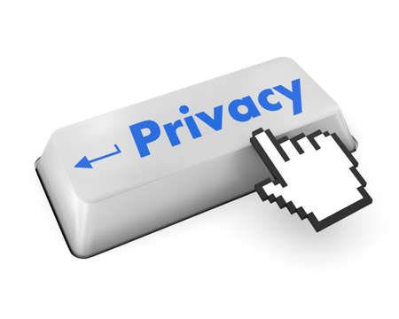 invading: message on keyboard enter key, for privacy policy concepts Stock Photo