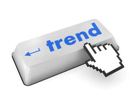 Trend button on keyboard  photo