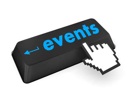 events button on the keyboard - holiday concept photo