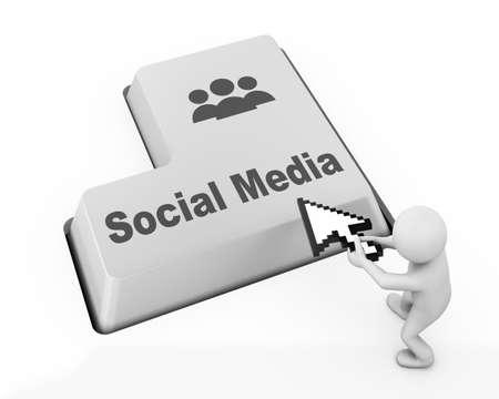 Social media keyboard button photo