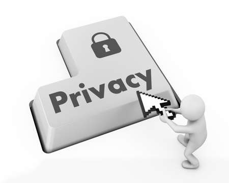 message on keyboard enter key, for privacy policy concepts photo
