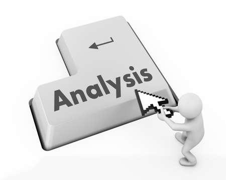 Analysis  keyboard 3d render photo