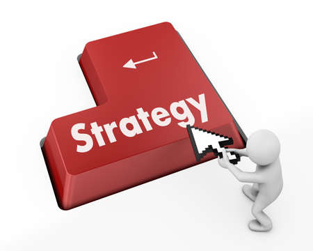 Strategy Concept. Button on Modern Computer Keyboard with Word Strategy on It. Stock Photo