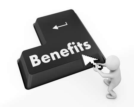 usp: Benefits keyboard 3d render
