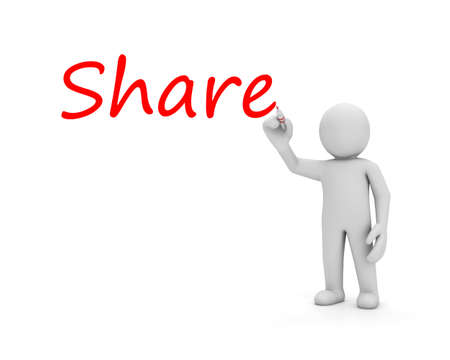spread the word: man write share