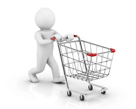 troley: empty cart - Stock Image Stock Photo