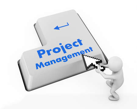 Project Management Button on Computer Keyboard. Business Concept. photo