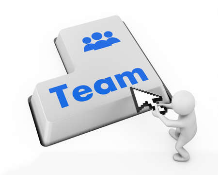 Team Building Concept. Team Button on Modern Computer Keyboard with Word Partners on It. photo