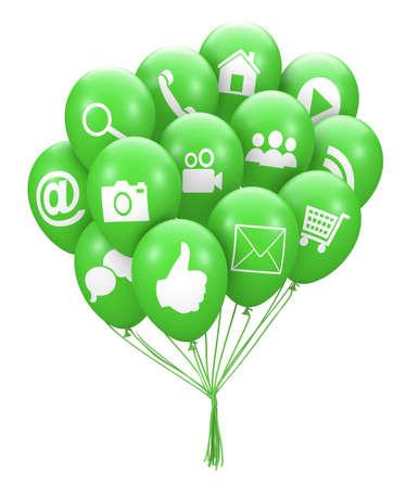 tweet balloon: social media balloon 3d render