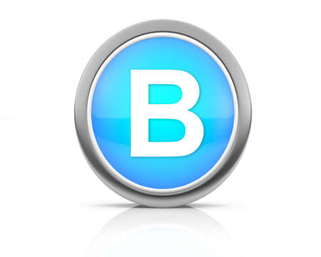 3d rendering of the letter B photo
