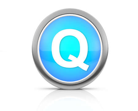 3d rendering of the letter Q photo