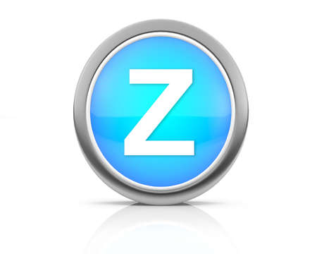 3d rendering of the letter Z photo