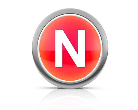 3d rendering of the letter N photo