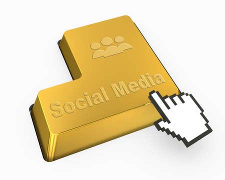 social media button photo