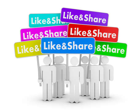 men and like and share boards photo
