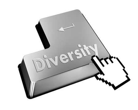 elearn: diversity button Stock Photo