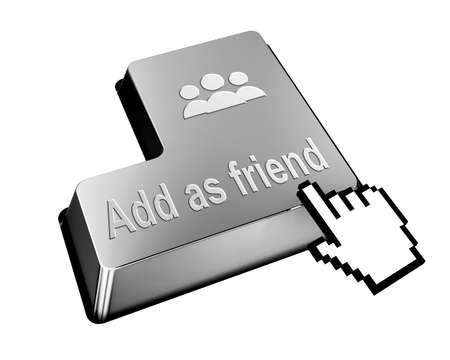 add as friend: add as friend button