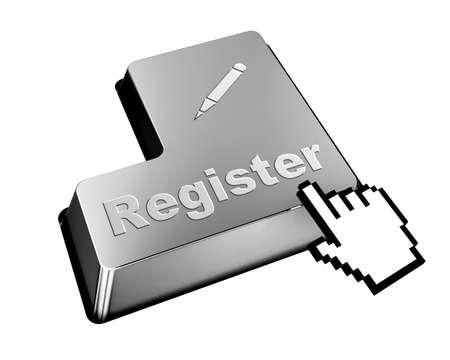 user name: register button