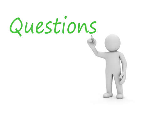 man and questions photo